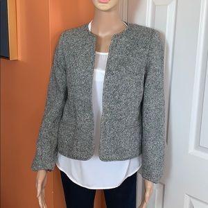 Orvis wool gray tweed blazer SZ 8